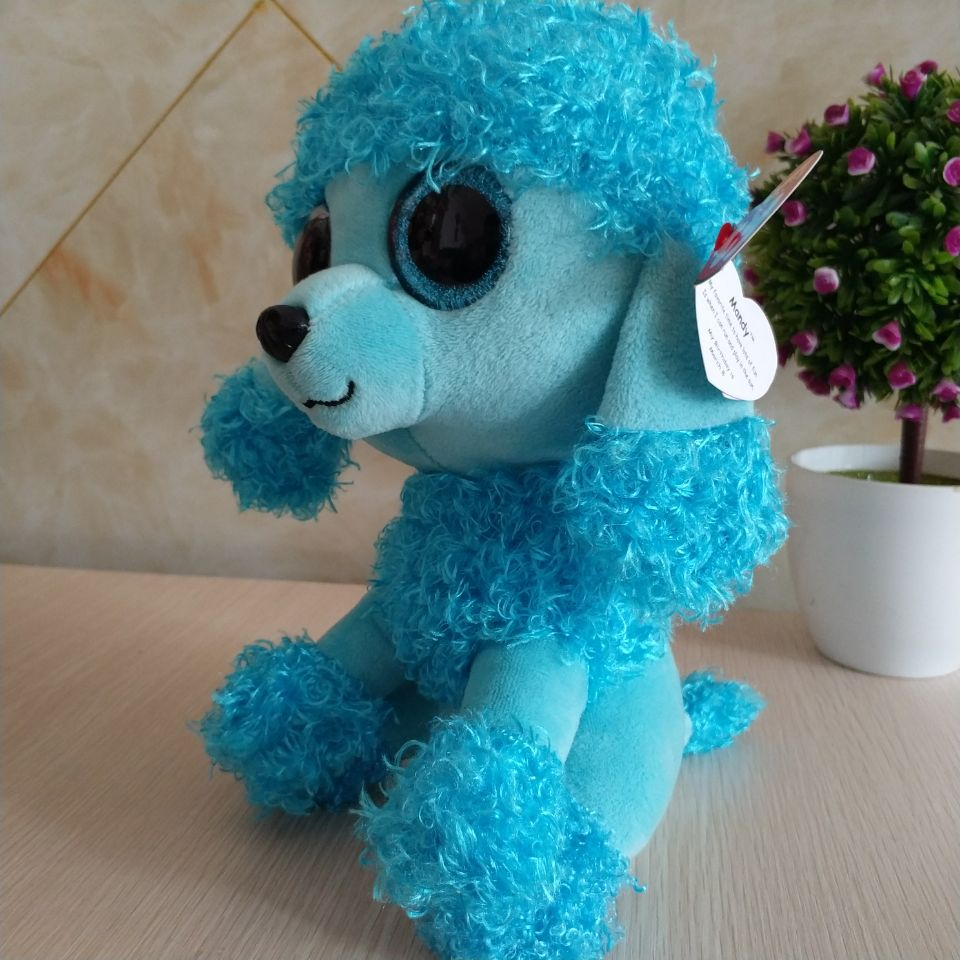82bc9a449ca MANDY blue poodle TY BEANIE BOOS collection 25CM 10