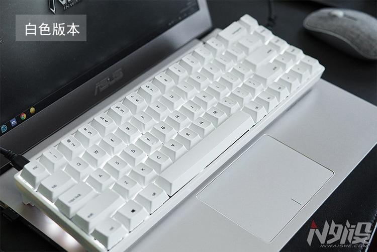 Mini 68 keys mechanical keyboard portable gateron switches white LED dye sub PBT keycap tada68 macro
