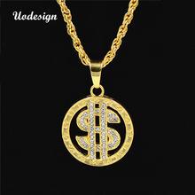Uodesign ожерелье в стиле хип хоп американский доллар золотой