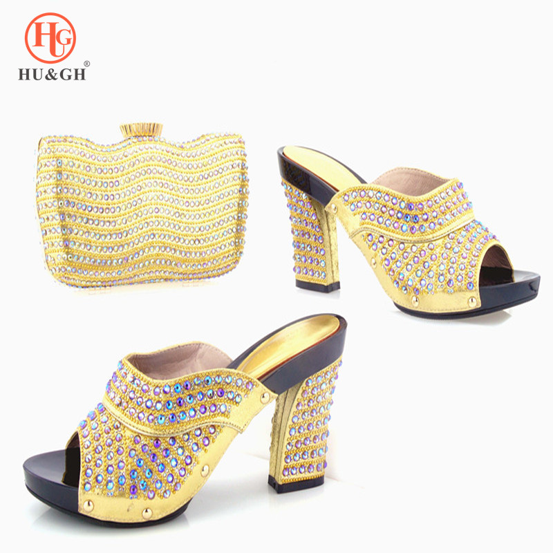 New Gold Color Italian Shoes with Matching Bag Shoes and Bag Set African Sets Women Weeding Italian Party Shoes and handBag Sets 2017 italian shoes with matching bags to match wine color new african shoes and matching bag sets for party 1703v0322d30 10