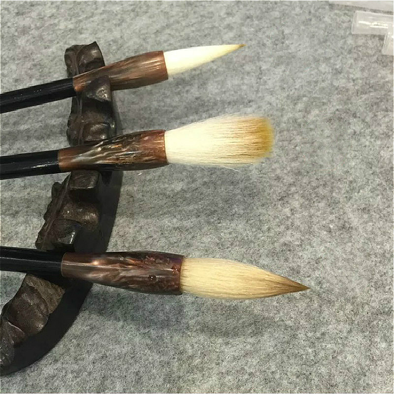 Handmade Multiple Hairs Chinese Traditional Calligraphy Pen Beginner Painting Practice Brush Fit For Student School Stationery chinese traditional calligraphy brush student lanscape painting calligraphy multiple hairs writing brush 3pcs set