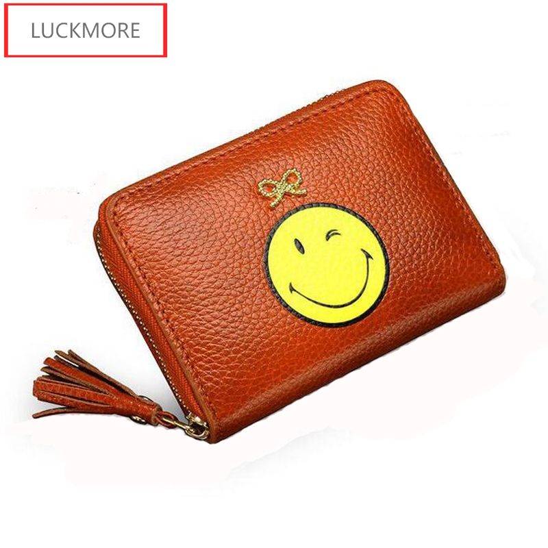 купить 100% Original Leather Women Wallets 2017 Fashion Famous Brand Buckle Coin Purse Wallet Female Clutch Carteras Short Money Pocket онлайн