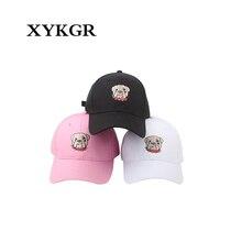 XYKGR 2018 Plier eaves baseball chapeau chiot tête bouledogue hip hop cap  Harajuku baseball visière chapeau 046e2f4c6b39