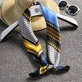 70*70 cm Imitado Lenço De Seda Quadrado Mulheres Cetim Lenços Xadrez Lenços Senhoras de Luxo Feminino Anel Wraps Hijab Bandanas colorido