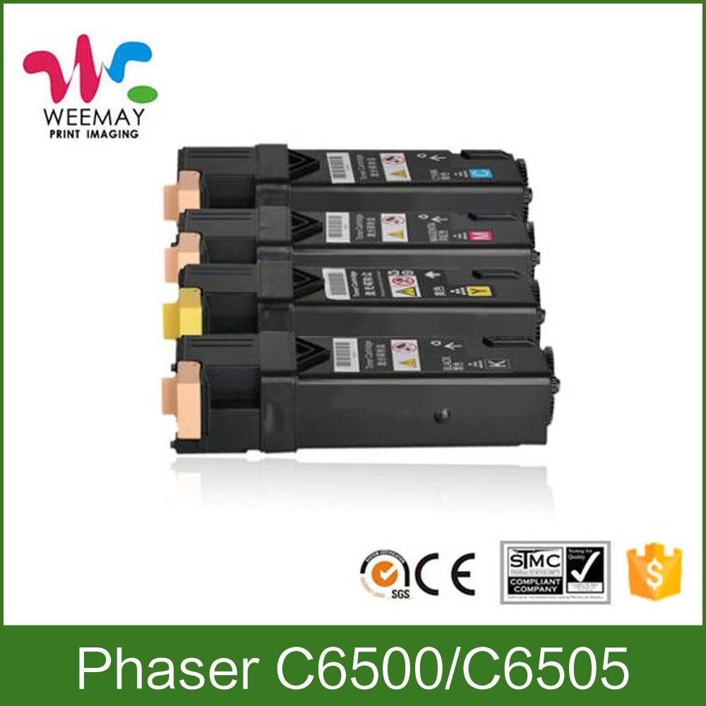 Xerox 6500 Cartouche de Toner compatible pour Xerox Phaser C6505 C6500 WorkCentre 6500 6505 106R02763 106R02760 106R02761 106R02762