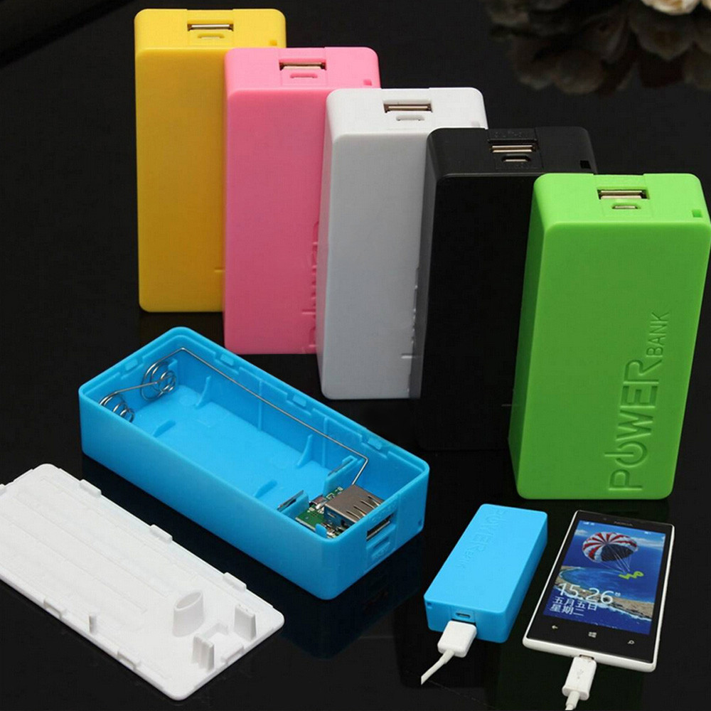2017 Chargers 5600mAh 2X 18650 USB Power Bank Battery Charger Case DIY Charging Box for Smartphone Dropshipping Wholesale USPS