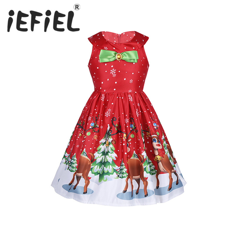Kids Children Christmas Costume Child Cosplay Fancy Party Dress Girls Princess Christmas New Year Vestidos Dress Up Clothes
