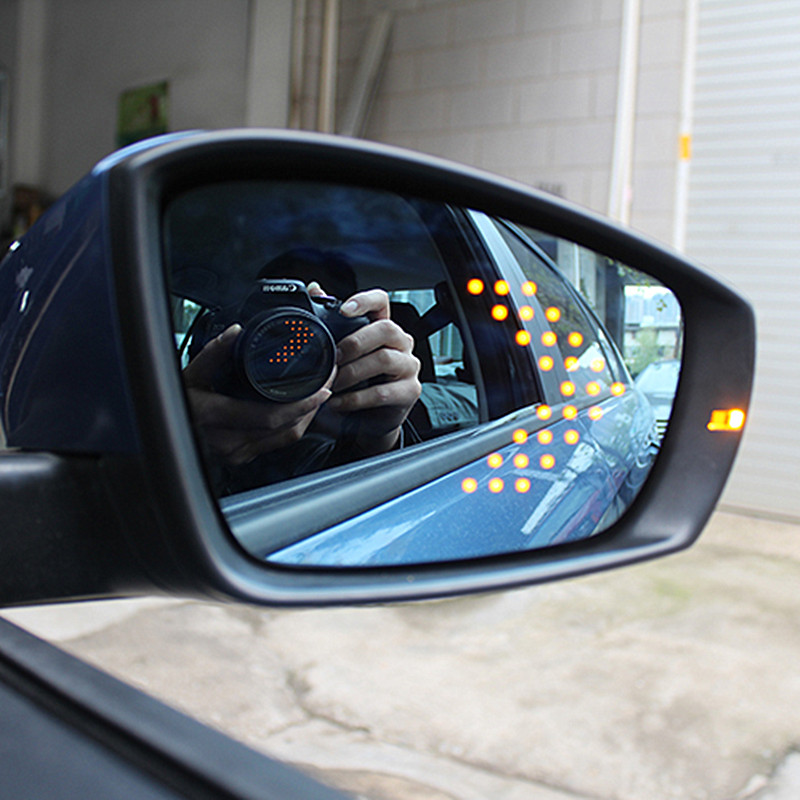 цена на Power Heated Blue Wide Angle Sight Side Rear View Mirror Glasses For VW Polo 2011-2016