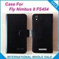 ¡ Caliente! 2016 Fly Caso Nimbus 8 FS454, 6 Colores de Alta Calidad de Cuero Caso Exclusivo Para Fly FS454 Nimbus 8 Cubierta Del Teléfono de Seguimiento