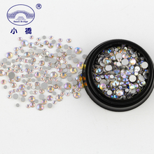 Mixed Size Ab Flatback Rhinestones 3d Nail And Gems Round Glass For Clothing R218