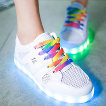 led shoes air colorful shoeslace luminous Woman  Glowing that light up luxury brand Casual Unisex Night schoenen metlicht Breath