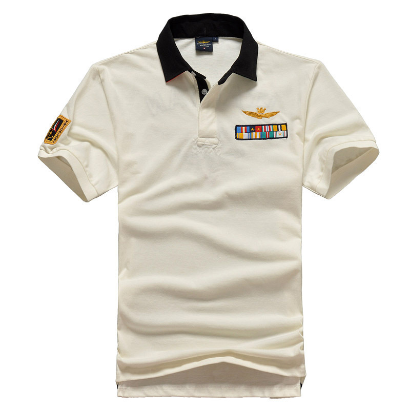 Aeronautica Militare Maschi Eden   Polo   Man Short Shirts Air Force Men's Embroidery Shirts Men Wear Short Sleeve Park   Polo   Shirts