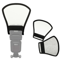 1pcs 2-in-1 Silver/White Camera Flash Diffuser Softbox Photo Flash Light Reflect
