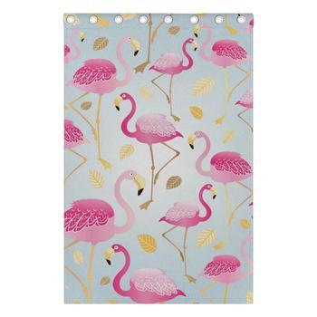 Tüllenvorhänge | Flamingo Vorhänge Vorhänge Panels Verdunkelung Blackout Tülle Raumteiler Für Terrasse Fenster Schiebetüren Glas Tür 55x84 Zoll