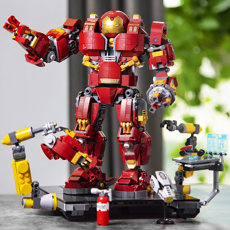 Super Heroes Iron Man Hulkbusters Model Building Blocks  Lego Toys For Children