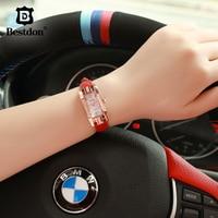 Bestdon Rectangular Watch Women Diamond Waterproof Quartz Clock Fashion Ladies Wristwatch Leather Female Top Brand Gift For Wife