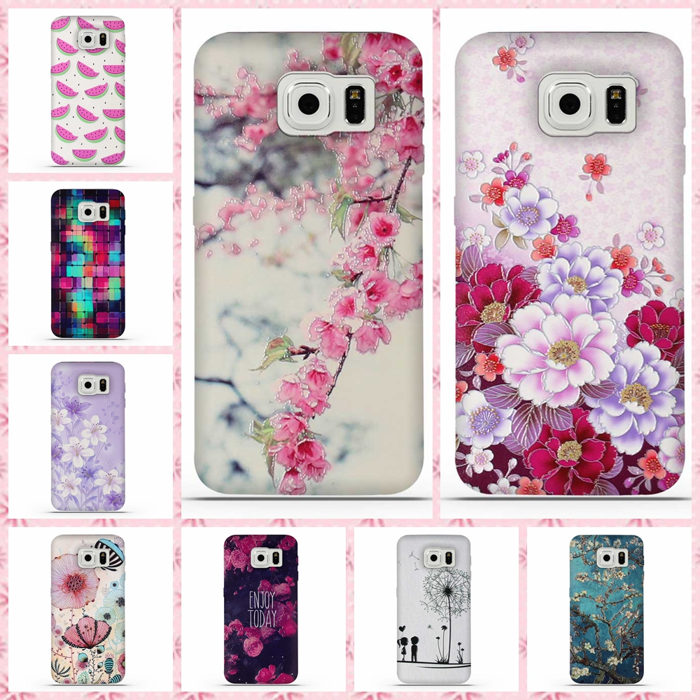 for coque samsung s6 case 3d relief printing silicone tpu. Black Bedroom Furniture Sets. Home Design Ideas