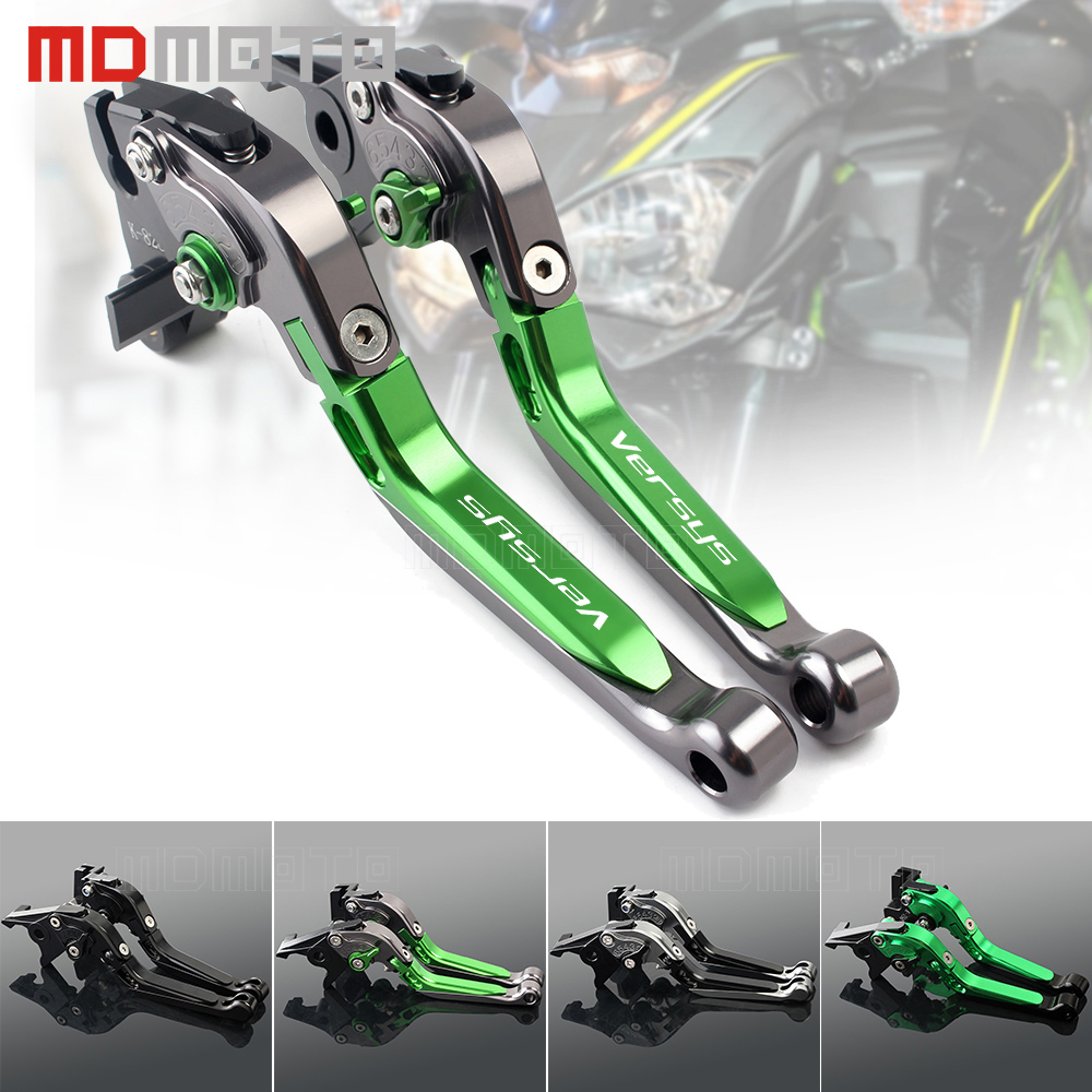 MDMOTO motorcycle Brake Clutch Levers For Kawasaki Versys 1000 Versys 650 300x Versys650 Clutch Brake Levers CNC Adjustable motorcycle brake clutch levers