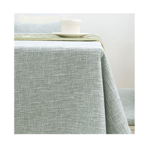 Simple Japanese Linen Abstrakte Cotton Gray Lace Fabric Dining Round  Rectangle Solid Zakka Tablecloth Grey Mediterranean