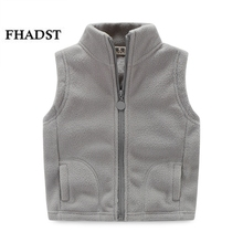 FHADST 2017 thicken winter cotton vest turtleneck solid fashion baby fleece vest kids waistcoat boys girls fleece jacket Coat