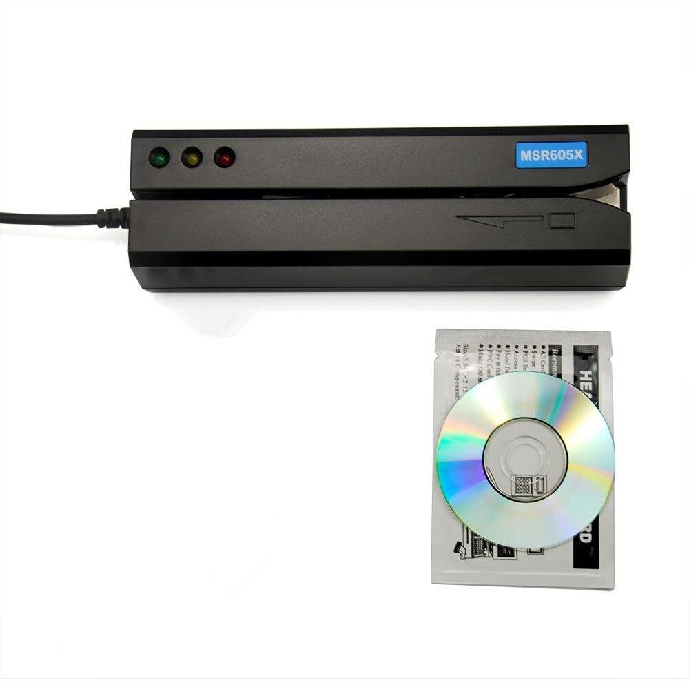 Nouveau MSR605X USB carte magcard lecteur écrivain sans Puissance adaptateur compatible MSR606i msr605 msr x6 msr900 msrx6bt