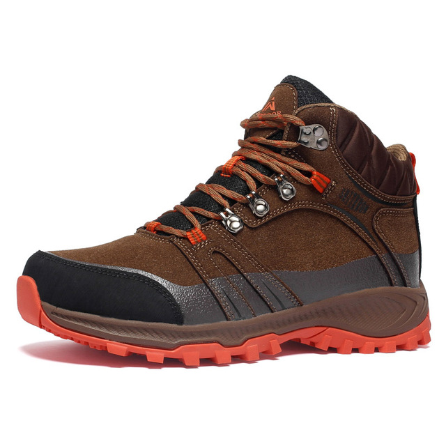 High-top Waterproof Hiking Shoes Man Woman Mountain Climbing Sneakers Leather Non-slip Tactical Boots Outdoor Winter Sport Shoes