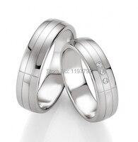 Европа Западная High End Пользовательские серебро Цвет Titanium обручальные кольца обручальное кольцо наборы для обувь для мужчин и женщин