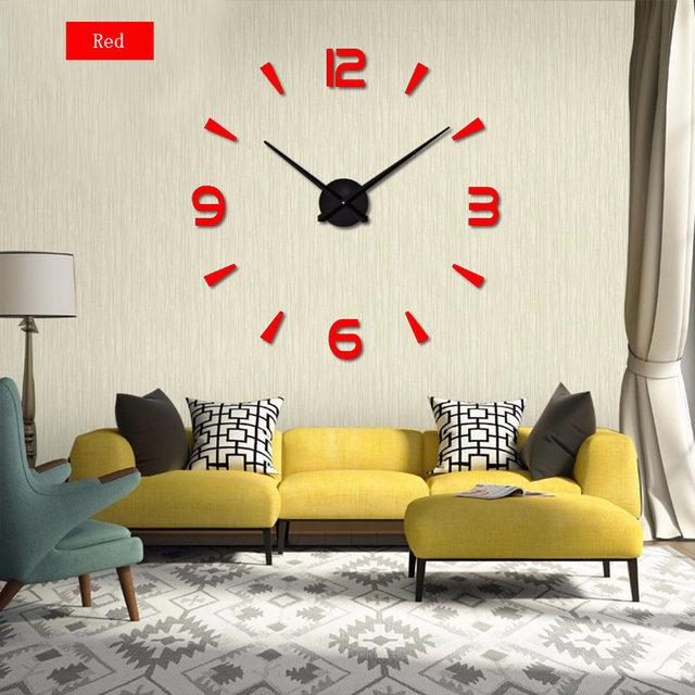 Online Shop 2017 New 3D Wall Clock digital wall clock Fashion ...