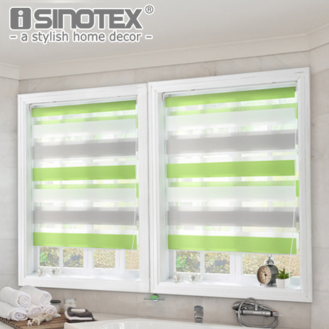 Luxury roller curtain zebra blinds window shade home decor double layer window roman curtain for