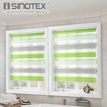 Luxury Roller Curtain Zebra Blinds Window Shade Home Decor Double-Layer Window Roman Curtain for Living Room Easy-installation