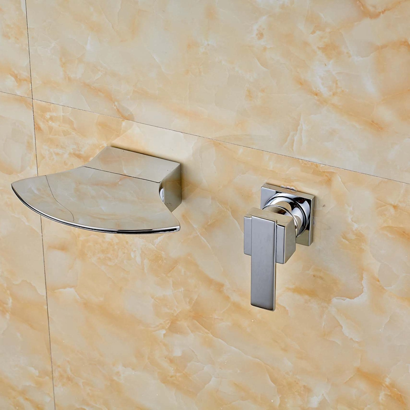 Modern Hot And Cold Water Wall Mounted Shower Tub Faucet Mixer Tap Single Handle factory direct supply of stars hotel concealed embedded wall type cold and hot water shower function single copper body