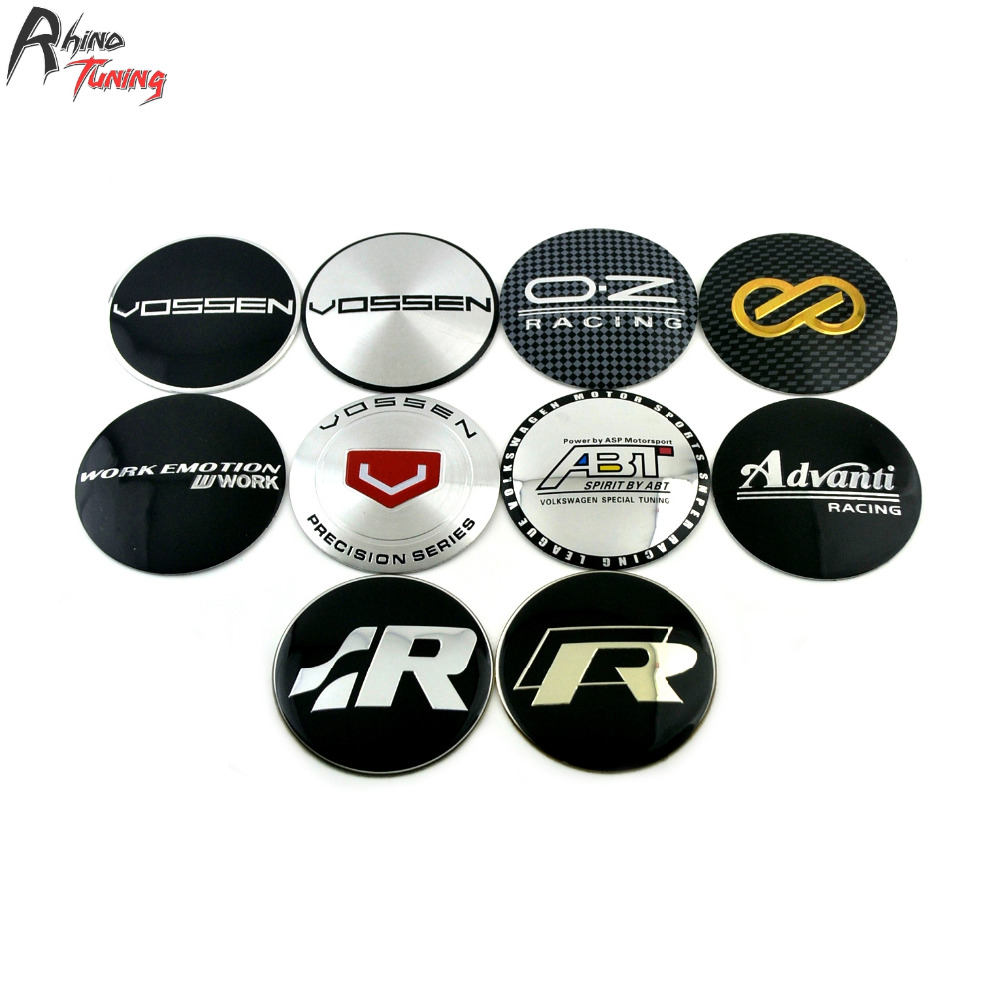 Rhino Tuning 65mm 4PC Vossen R Line OZ Racing ABT Advanti Car Wheel Center Centre Badge Sticker Auto Styling Emblem 363 microphone for computer professional bm 800 condenser microphone 48v phantom power usb sound card studio ktvhave a small gift