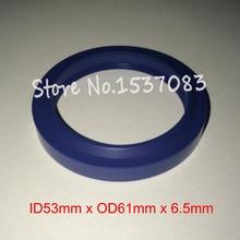 Hydraulic ram seal wiper seal polyurethane PU o-ring o ring 53mm x 61mm x 5mm x 6.5mm цена 2017