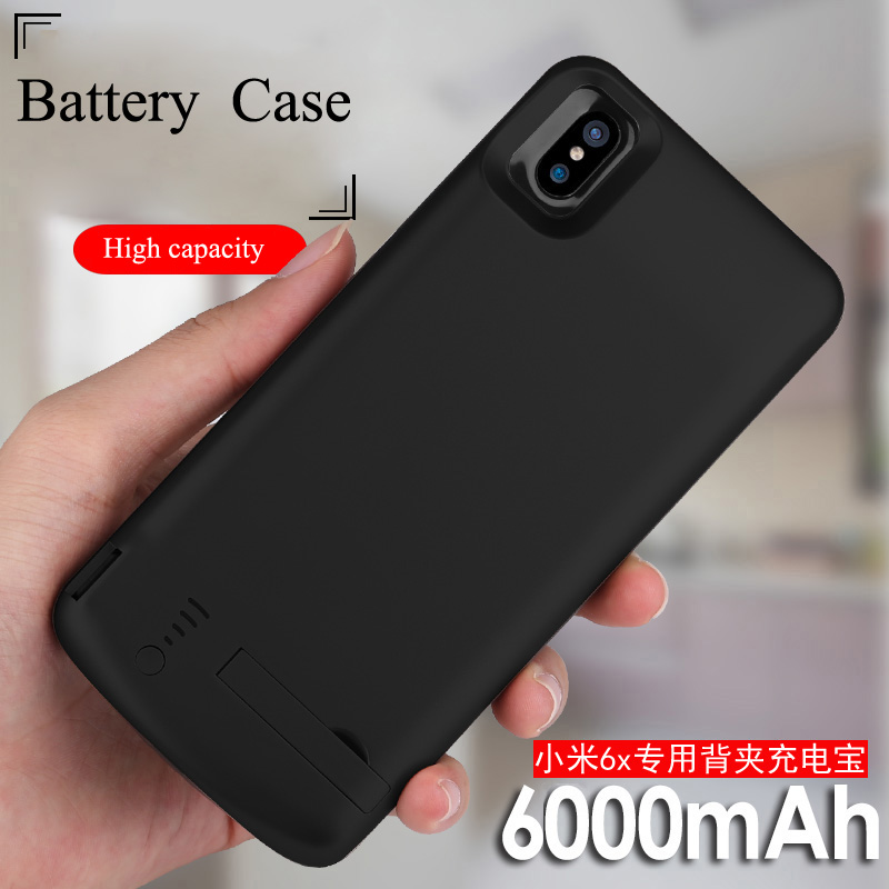 <font><b>6000mAh</b></font> Battery Case For <font><b>Xiaomi</b></font> Mi 6X <font><b>Power</b></font> <font><b>Bank</b></font> Cover For <font><b>Xiaomi</b></font> Mi 6X USB Charger Capa Fundas For <font><b>Xiaomi</b></font> Mi 6X image