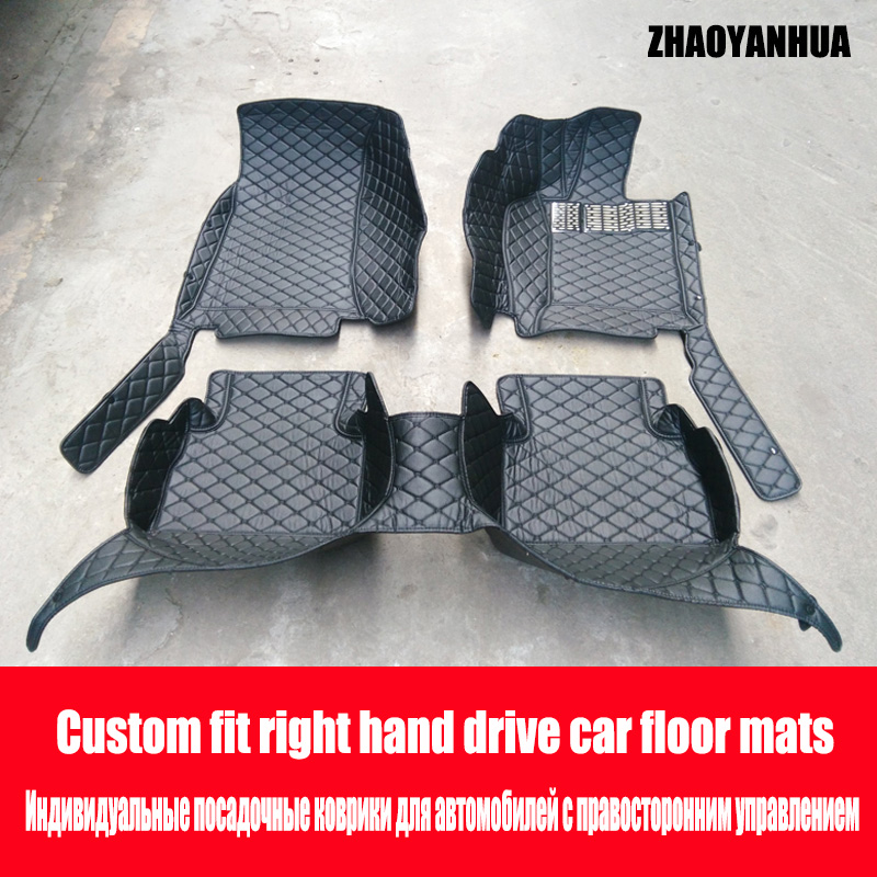 ZHAOYANHUA Right hand drive car car floor mats for Toyota Highlander Camry Prado RAV4 Corolla Yaris 6D car-styling all weather rZHAOYANHUA Right hand drive car car floor mats for Toyota Highlander Camry Prado RAV4 Corolla Yaris 6D car-styling all weather r