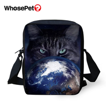 WHOSEPET Women Messenger Bags Cats Lights Prints Animal Cross Body Shoulder Cool Girls School Lady Mini Flap Postbags
