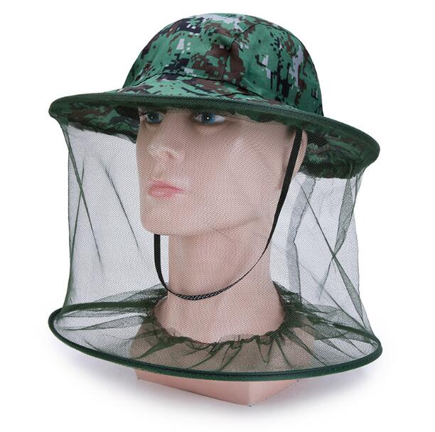 Camouflage Safety Hat Wide Brim Visor Sunshade Hunting Bee Keeping Mesh Hat Insects Mosquito Prevention NeckHead Cover