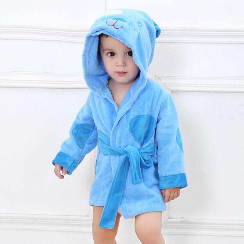6 стилей; детский банный халат с ворсом и шапкой; Банное полотенце с капюшоном для малышей; модельные пижамы с животными - Цвет: Puppy