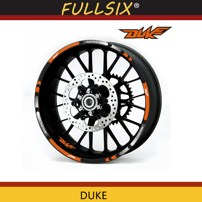 Hot sell Motorcycle Rim stripes Decals 17inch Wheel <font><b>Sticker</b></font> Reflective Tape For KTM <font><b>DUKE</b></font> 200 390 690 990 Reflective <font><b>sticker</b></font> image