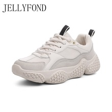 JELLYFOND Chunky Sneakers Women Casual Platform Shoes Female 2019 Women's Sneakers Thick Bottom Shoes Trainers Sapato Feminino