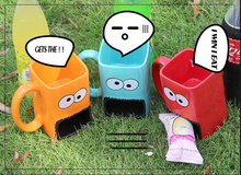 300 ml Regenbogen monster Karton becher kaffeetassen Handgefertigte Kreative Keramik tassen Wasser Cups Home Drink Einzigartiges Geschenk