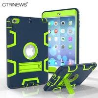 מקרה עבור iPad mini עמיד הלם Heavy Duty גומי CTRINEWS שריון היברידי מקרה קשה כיסוי עבור iPad mini 2 3 נרתיקי מגן Tablet