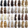 2017 New Fashion 3/4 Half Wig Fall Long Wavy Hair Fall with Braided Hairband Synthetic Wigs for Women More Colors Optional