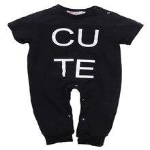 2016 Original Newborn Infant Short-sleeved Baby Boys Girls Warm Bodysuit Black Cotton Brand Climbing
