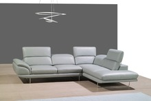 genuine leather sofa sectional living room sofa corner home furniture couches with functional headrest modern style