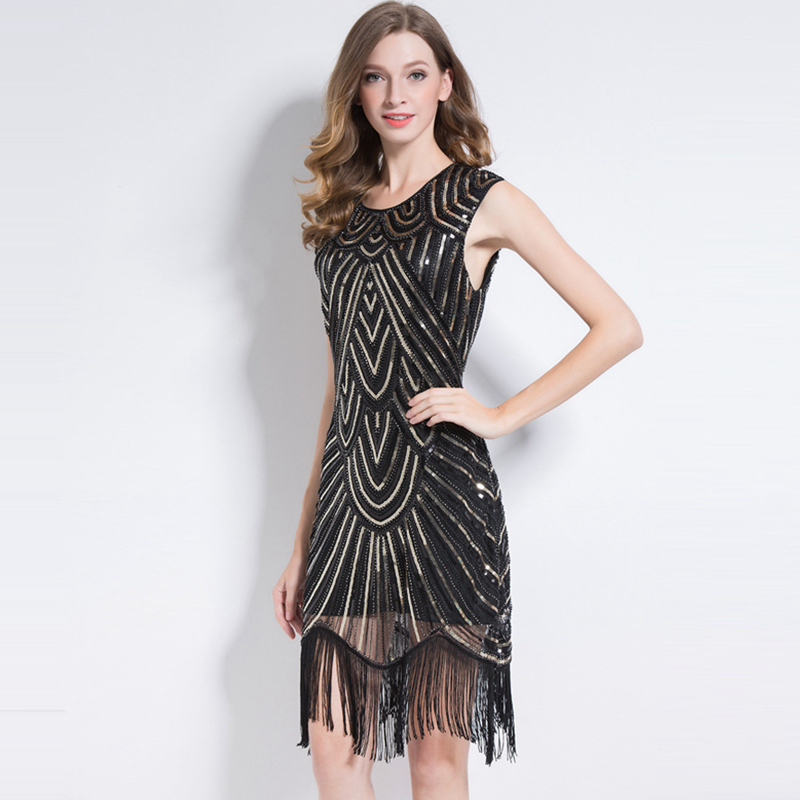 Runway Sequined <font><b>Dress</b></font> Women Sleeveless <font><b>Luxury</b></font> <font><b>Sexy</b></font> Style Sleeveless Tassel Mini <font><b>Dress</b></font> 5 Colors Party <font><b>Dresses</b></font> New Fashion <font><b>2018</b></font> image