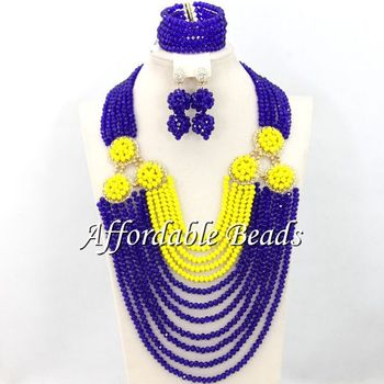 Costume Jewelry Set Hot Selling African Wedding Beads Jewelry Set Wholesale Free Shipping ABW104