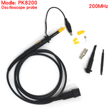 цена 1pcs Hight quality PK8200 oscilloscope table pen 200MHz,oscilloscope passive probe Alligator Clip Test Probe kit free shipping