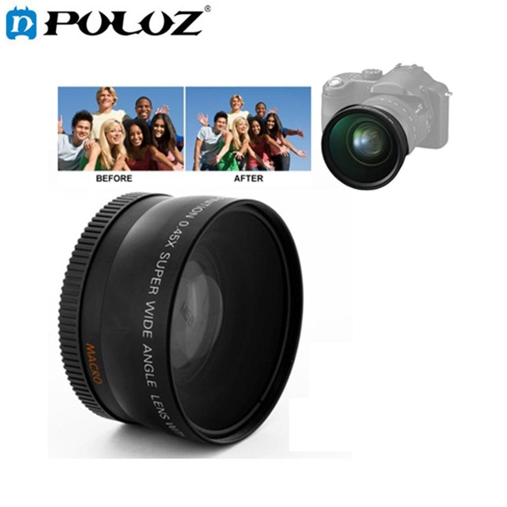 0.45x58mm lente gran angular con macro para Canon 700D 350D 400D 450D 500D 1000D 550D 600D 1100D adecuado para 18-55mm lente