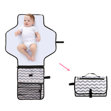 Купить с кэшбэком Portable Baby Diaper Changing Mat Nappy Changing Pad Waterproof Travel Changing Station Clutch Baby Care Hangs Stroller Wetbag
